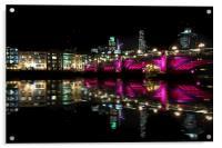 London Bridge in Pink, Acrylic Print