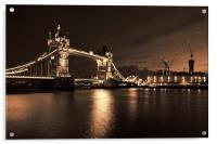 Tower Bridge Toned, Acrylic Print