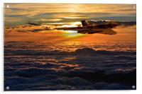 Vulcan bomber sunset 2, Acrylic Print