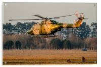 Army Air Corps Lynx at sunset, Acrylic Print