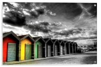 Beach Huts, Acrylic Print