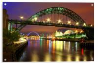 Tyne Bridge at Night, Acrylic Print