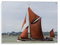 Thames Barge Repertor, Acrylic Print