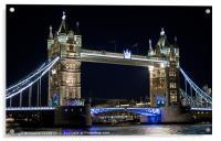 Tower Bridge at night, Acrylic Print