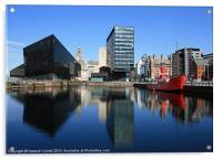 Liverpool reflections, Acrylic Print