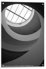 Liverpool staircase B&W, Acrylic Print