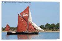 Thames Barge Edme, Acrylic Print