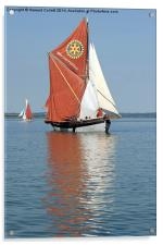 Thames Barge Cambria, Acrylic Print