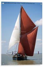 Thames Barge Edith May, Acrylic Print
