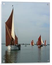 Barge Match, Acrylic Print