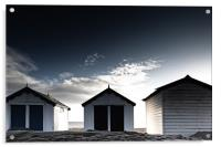 Southwold beach huts in winter, Acrylic Print
