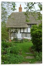 Old Church Cottage, Long Marston, Acrylic Print