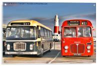 Vintage Buses, Acrylic Print