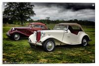 Classic MG Cars, Acrylic Print