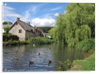 English Village Pond, Acrylic Print
