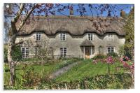 English Country Cottage, Acrylic Print