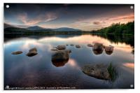 Loch Morlich - Sunset, Acrylic Print