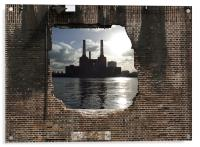 Hole in the wall, Acrylic Print