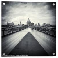 Millennium Bridge, London, Acrylic Print
