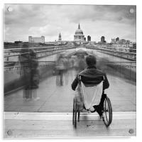 Invisible ..... Millennium Bridge, London, Acrylic Print