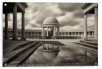 Eaton Park Bandstand, Norwich, Acrylic Print