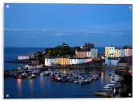 Tenby Harbour-Pembrokeshire-Wales., Acrylic Print