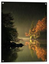 Loch Ard Autumn Light, Acrylic Print