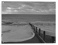 Waves at Hayling Island, Acrylic Print