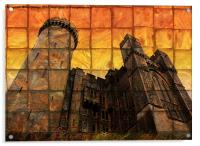 Arundel Castle at Sunset, Acrylic Print