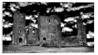 Reculver Castle - Monotone, Acrylic Print
