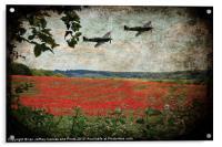 Over The Poppy Field, Acrylic Print