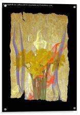 Daffodil Art, Acrylic Print