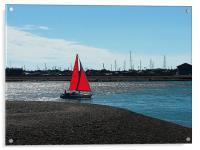 Red Sail, Acrylic Print