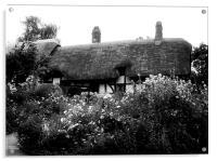 Cottage B&W, Acrylic Print