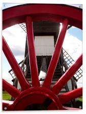 Pitstone Windmill Through Wheel, Acrylic Print