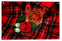 Glass of whisky, Acrylic Print