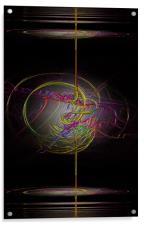 Neon Smoke, Acrylic Print