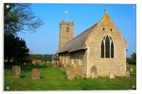 Thatched Church, Acrylic Print