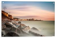 Aberystwyth on the Rocks (1st Edition), Acrylic Print