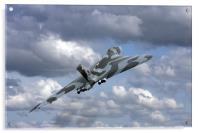 Avro vulcan bomber xh558 at Abingdon air show., Acrylic Print
