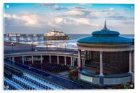 Eastbourne pier and bandstand, Acrylic Print