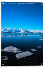 Ice lagoon 3 Iceland, Acrylic Print