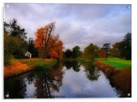 Autumn Reflections at Wrest Park, Acrylic Print
