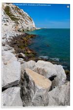 Cliffs at Samphire Hoe, Acrylic Print