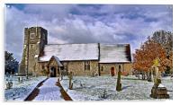 St Margarets in Wintertime, Acrylic Print