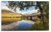 Railway Viaduct Over River Orchy, Acrylic Print