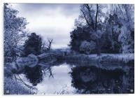 Blue Chinese Bridge Wrest Park, Acrylic Print
