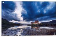 Stormy Skies Eilean Donan Castle, Acrylic Print