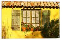Sunshine and Shutters, Acrylic Print