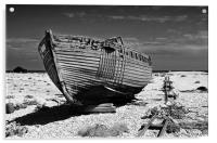Dungeness Decayed Boat, Acrylic Print